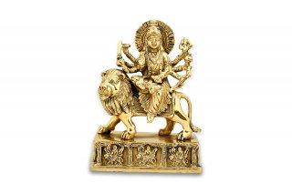 ドゥルガー女神像(真鍮製、高さ約15.5cm)(受注製作)