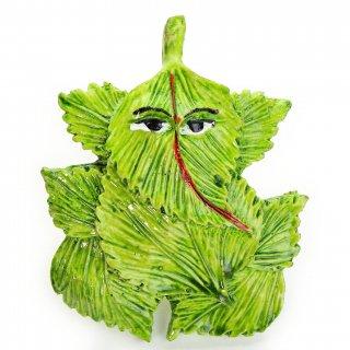 テラコッタ製の葉っぱのガネーシャ