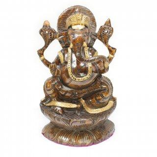 木製ガネーシャ神像(高さ約20cm)