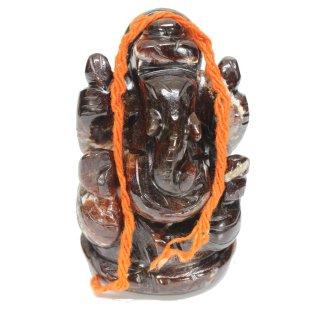 ゴーメーダ(ヘソナイト)・ガネーシャ神像(約130グラム、高さ約6.3cm)