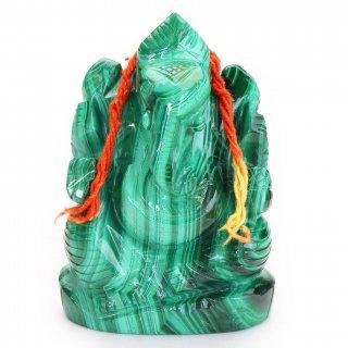 マラカイト・ガネーシャ神像(262グラム)