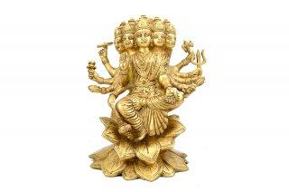 ガーヤトリー女神像(真鍮製)(A)(受注製作)