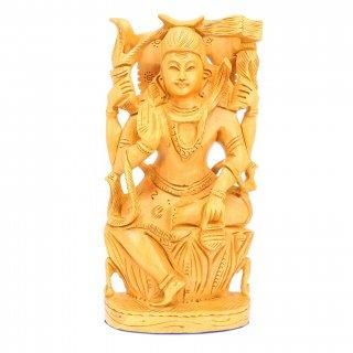 シヴァ神座像(木製)