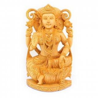 ラクシュミー女神像(木製)