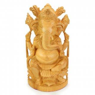 木製ガネーシャ神像(高さ約31cm)