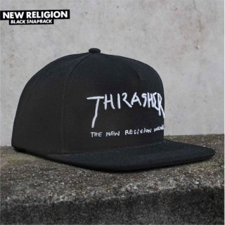 <img class='new_mark_img1' src='//img.shop-pro.jp/img/new/icons5.gif' style='border:none;display:inline;margin:0px;padding:0px;width:auto;' />THRASHER MAGAZINE スラッシャーマガジン NEW RELIGION BLACK SNAPBACK CAP