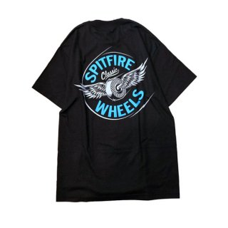 <img class='new_mark_img1' src='//img.shop-pro.jp/img/new/icons5.gif' style='border:none;display:inline;margin:0px;padding:0px;width:auto;' />Spitfire Wheels  Spitfire Flying Classic Pocket T-Shirt  Black/Blue スピットファイヤーTシャツ