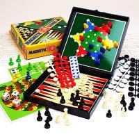 【チェス、チェッカー、バックギャモン…】世界の伝統ゲーム10種が勢揃い!マグネット付テンゲーム