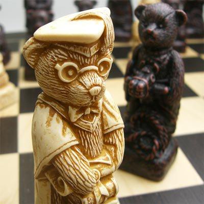 【親から子へと受け継がれていくテディベア】チェス駒 テディベア A172