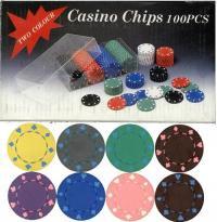 【CASINO POKER CHIP】ポーカーチップ トランプ柄単色 100枚セット