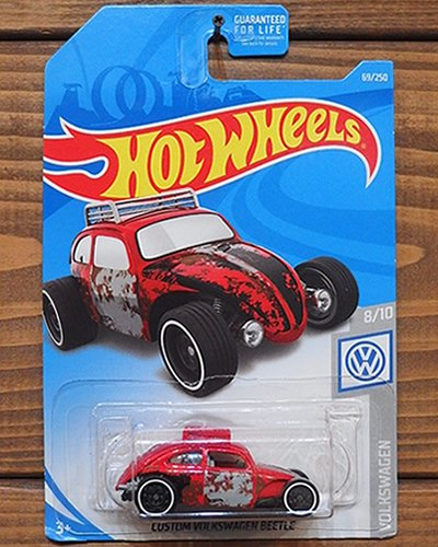 【Hot Wheels】CUSTOM VOLKSWAGEN BEETLE -RD-