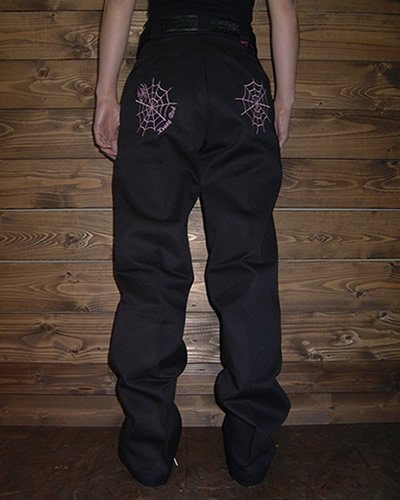 【GIRL'S KUSTOM WORK PANT】 -SPIDER WEB-