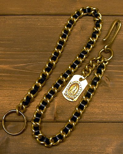 【LEATHER & BRASS WALLET CHAIN】