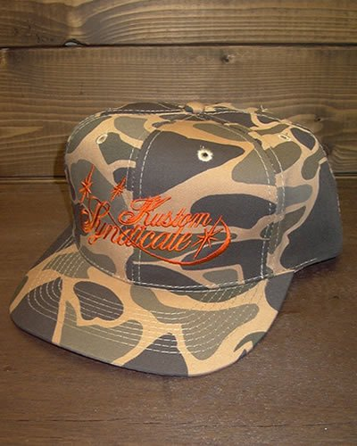 【CAMOUFLAGE COTTON TWILL CAP】