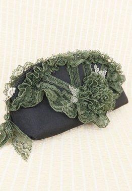 メガネポーチ【Perimurmur(ピアリマーマ)】KH7642−黒xグリーン