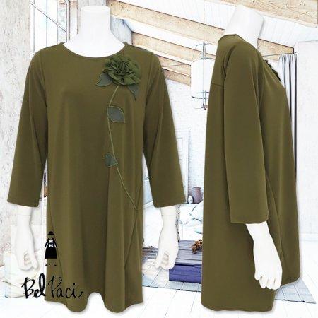 Tシャツ【BelPaci(ベルパーチ)】BP51749−モスグリーン