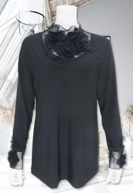 Tシャツ【BelPaci(ベルパーチ)】BP51599−黒