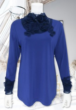 Tシャツ【BelPaci(ベルパーチ)】BP51599−ブルー