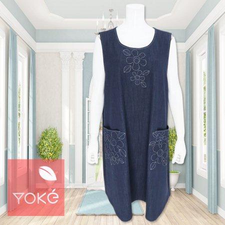ジャンパースカート【YoKe(ヨーク)】Y41007−紺