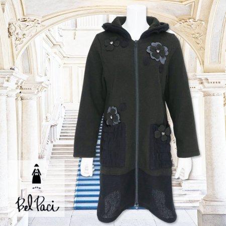 パーカー【BelPaci(ベルパーチ)】BP31702−黒