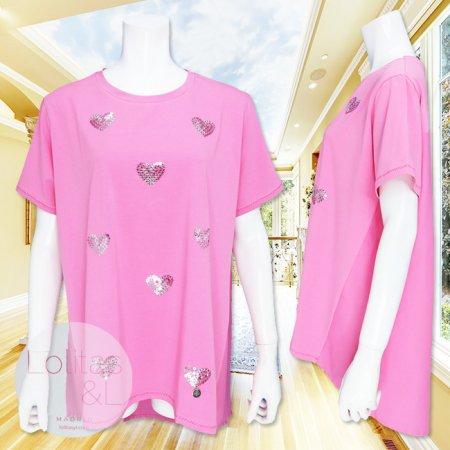 Tシャツ【LOLITAS&L】AT11006−ピンク