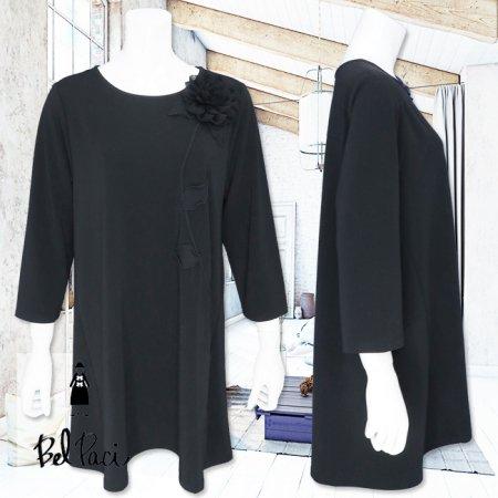Tシャツ【BelPaci(ベルパーチ)】BP51749−黒