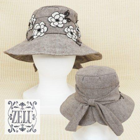 帽子【ZELU(ゼル)】Z21396112−茶