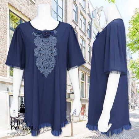 Tシャツ【BelPaci(ベルパーチ)】BP51774−紺