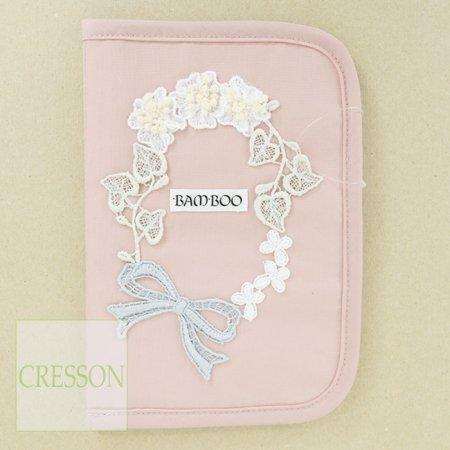 手帳カバー【BAMBOO(バンブー)】C91415−ピンク−お薬手帳用