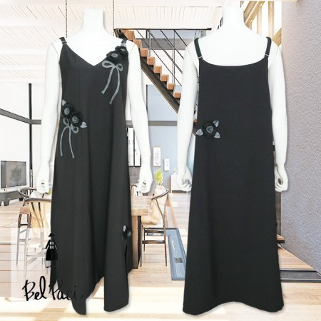 ジャンパースカート【BelPaci(ベルパーチ)】BP60121−黒