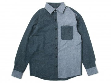 4WHEELPIPE [ Herringbone Denim Shirts ]