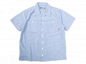 BLUCO [ STANDARD WORK SHIRTS S/S ] BLUE STRIPE