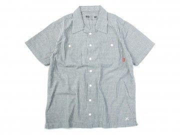 BLUCO [ STANDARD WORK SHIRTS S/S ] GRAY STRIPE