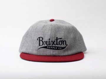 BRIXTON [ GOMEZ Cap ] L.HEATHER GRAY x BURGUNDY