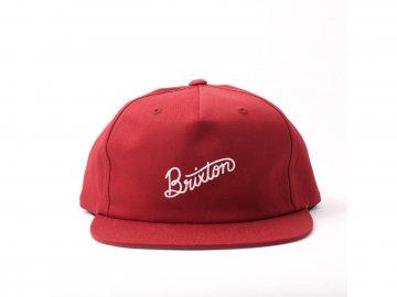 BRIXTON [ SUNDER Snapback Cap ] BURGUNDY