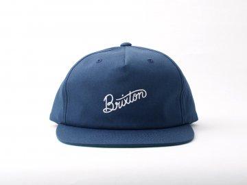 BRIXTON [ SUNDER Snapback Cap ] NAVY