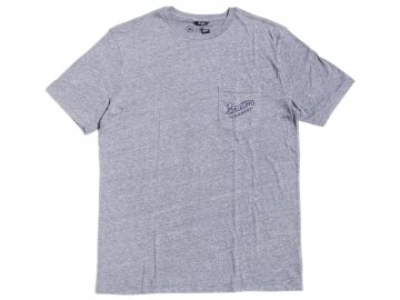 BRIXTON [ BECKLEY Premium Pocket Tee ] HEATHER GRAY