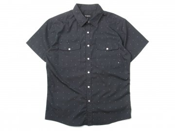 BRIXTON [ WAYNE S/S Woven Shirt ] WASHED BLACK