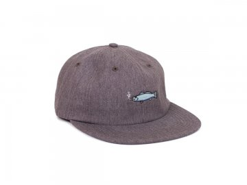 Good Worth & Co. [ Smoking Fish Strapback Cap ] GRAY