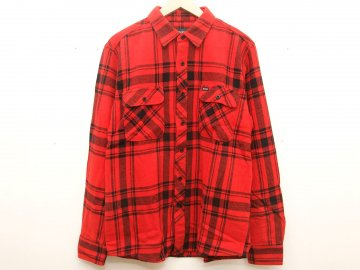 BRIXTON [ Bowery L/S Flannel ] RED x BLACK