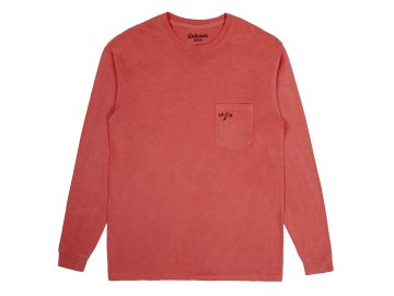 Delicious [ Daily Used Long Sleeve Pocket T-Shirt ] CRIMSON