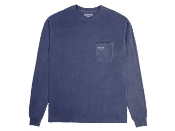 Delicious [ Daily Used Long Sleeve Pocket T-Shirt ] NAVY