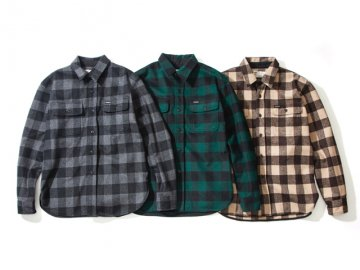 68&BROTHERS [ Wool Plaid C.P.O Shirts ] 3 COLORS