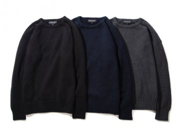 68&BROTHERS [ Cotton Boat Neck Sweater ] 3 COLORS