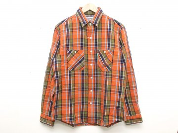 Delicious [ Heavy Flannel Shirt ] Orange x Navy x Olive x Sky x White