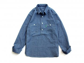 Delicious [ Pullover Chambray Shirt ] BLUE