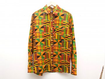 4WHEELPIPE [ African Fabric Shirts ]