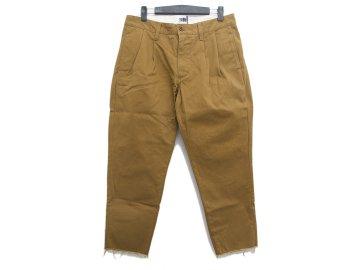 melple [ 2 Tuck Chino Pants ] CAMEL