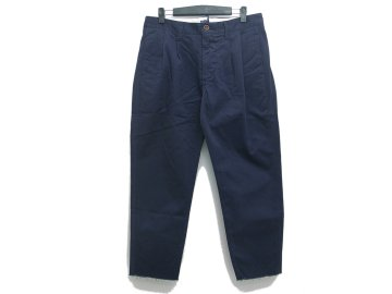 melple [ 2 Tuck Chino Pants ] NAVY