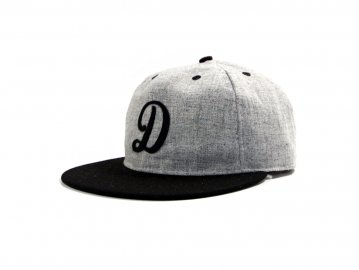 Delicious by Ebetts Field Flannels [ D Felt Cap ] BLACK x HEATHER GRAY